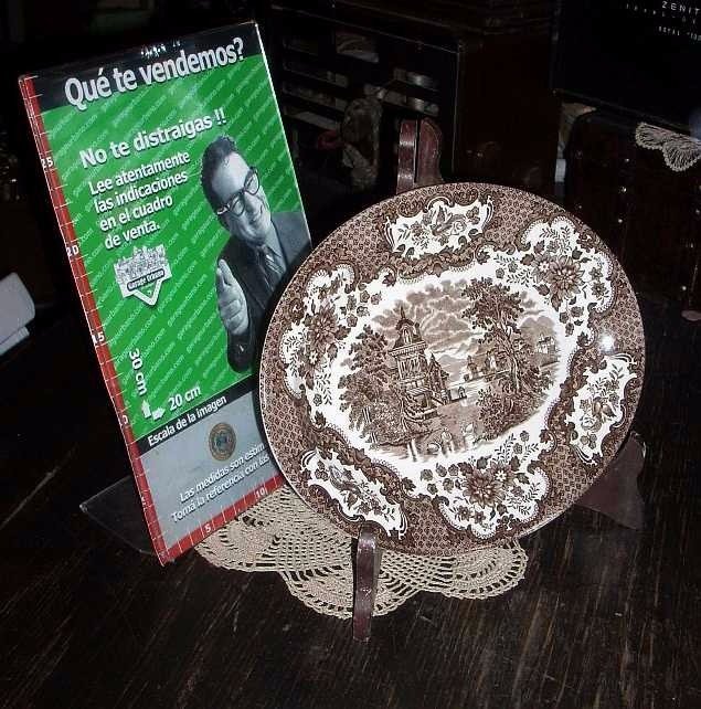 Antiguo Plato Oval Ingles Tableware Staffordshire (4197) - $ 460,00 ...