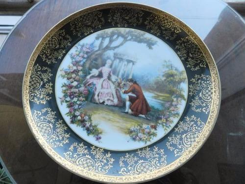 antiguo plato pared porcelana marca tsuji ind arg