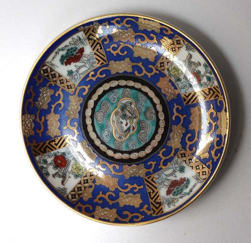 antiguo plato platito porcelana tsuji oro 24 kilates