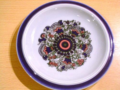 antiguo plato porcelana alemania goebel bavaria floral