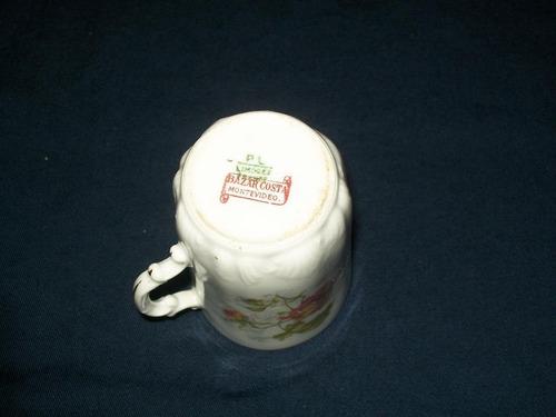 antiguo plato y taza de café limoges