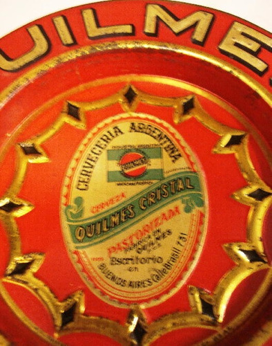 antiguo porotero hojalata cerveceria quilmes cristal