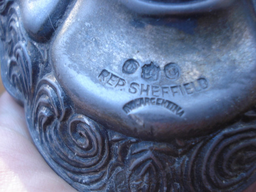antiguo porta vela rep.sheffield