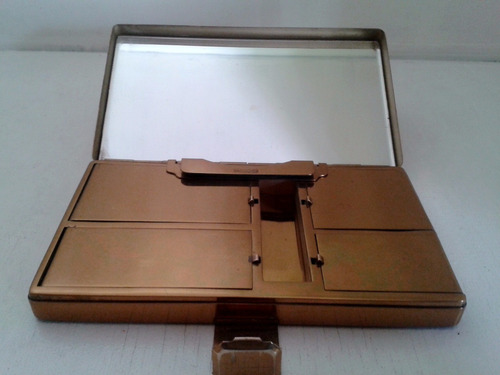 antiguo portacosmeticos vanudier bronce baquelita bellisimmo