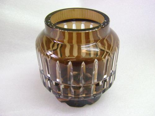antiguo potiche cristal tallado sin tapa - no envío