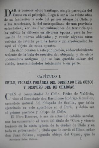 antiguo provincia eclesiastica iglesia chilena obispado