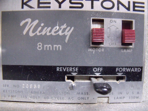 antiguo proyector keystone ninety 8mm coleccion decoracion