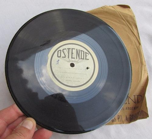 antiguo raro disco para grabar, ostende, de metal, #1