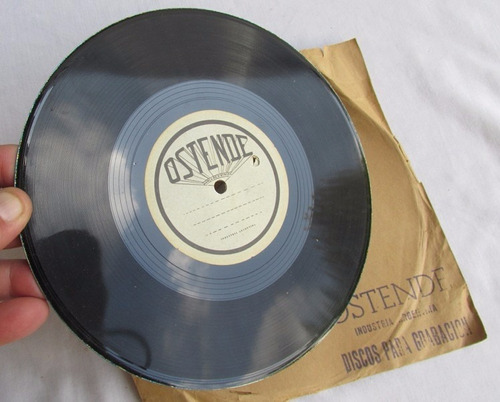 antiguo raro disco para grabar, ostende, de metal, #2