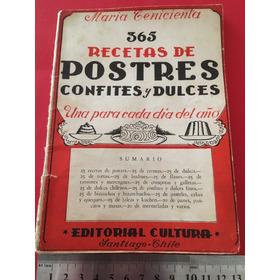 Antiguo Recetario 365 Recetas De Postres Confites Dulces 64