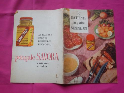 antiguo recetario original savora