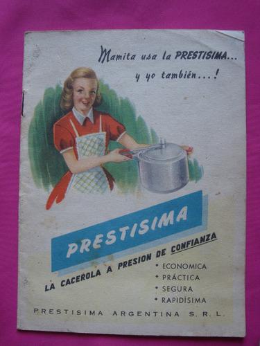 antiguo recetario prestisima la caceroa a presion