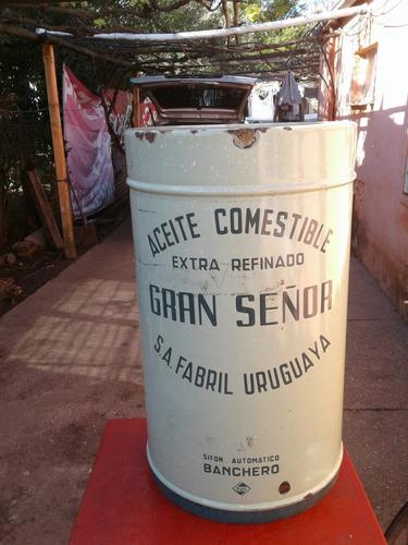 antiguo recipiente sifon banchero