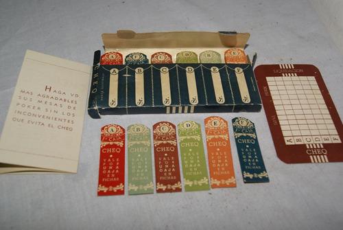 antiguo registro de cajas en fichas cheo. para poker