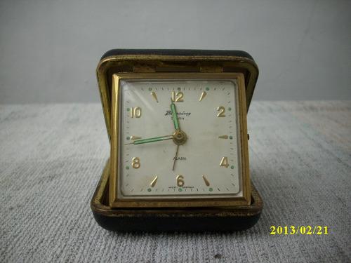 antiguo reloj aleman de viaje, funcionando