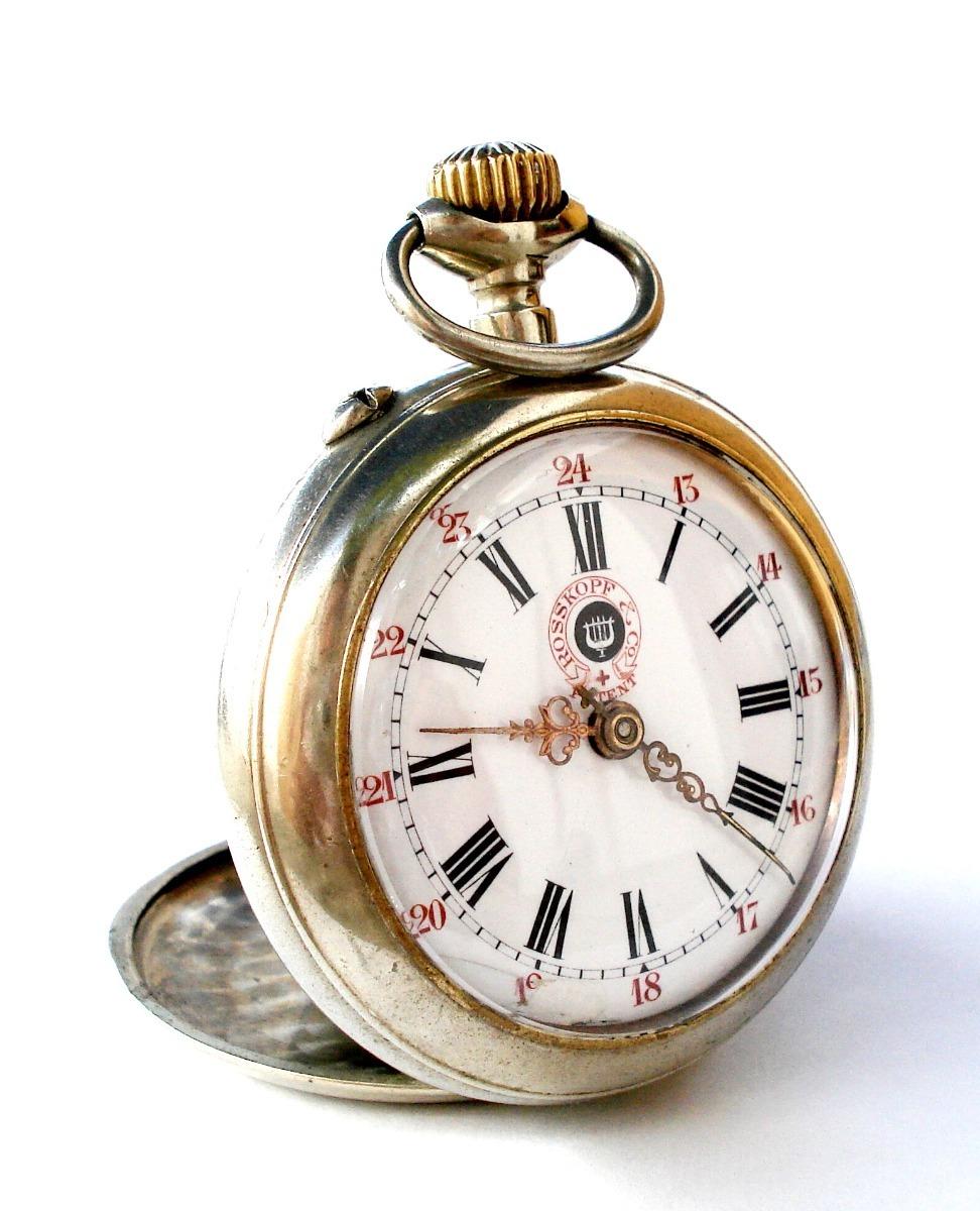 Antiguo Bolsillo Co1900c Funcionando 54mm7 Rosskopfamp; 500 00 Reloj XkPiuTZO