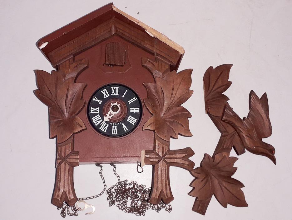 Antiguo Reloj Cucu Hubert Herr Triberg