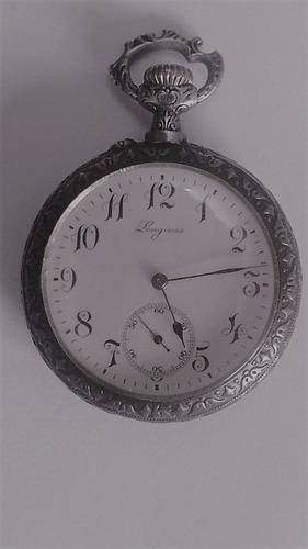 antiguo reloj de bolsillo longines grand prix paris 1900