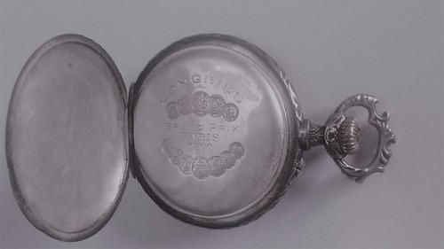 antiguo reloj de bolsillo longines grand prix paris 1900