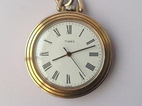 4ad8cbfc0723 Antiguo Reloj De Bolsillo Timex Cuerda Años 80