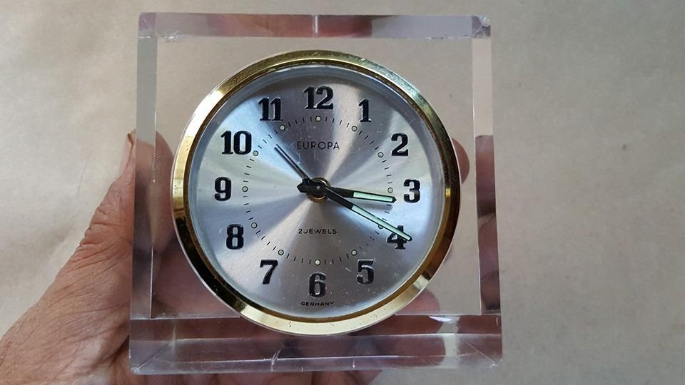 Antiguo reloj de mesa europa made in germany funciona - Relojes antiguos de mesa ...