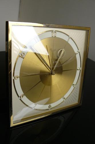 antiguo reloj de mesa kienzle aleman cuerda año 50 art deco