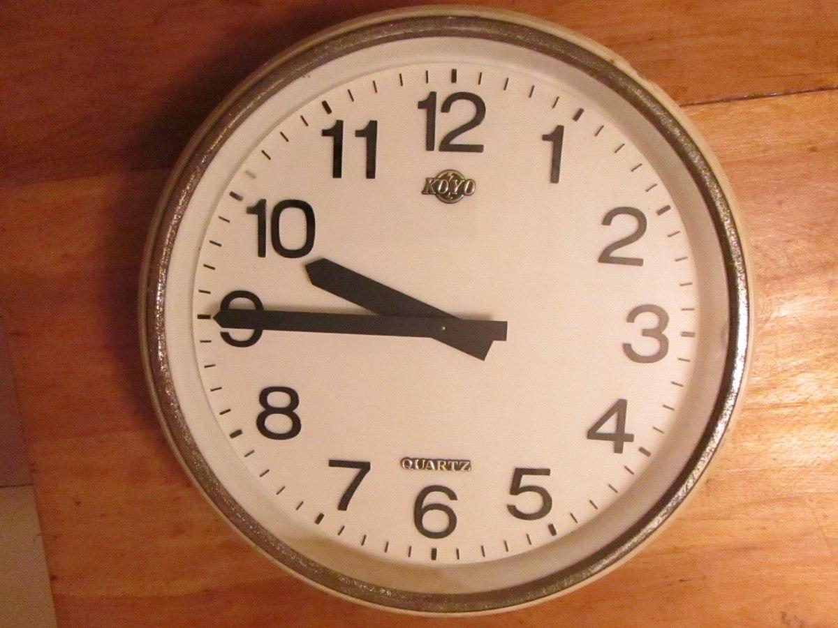 Antiguo reloj de pared de los a os 70 39 muy grande - Relojes de pared ...