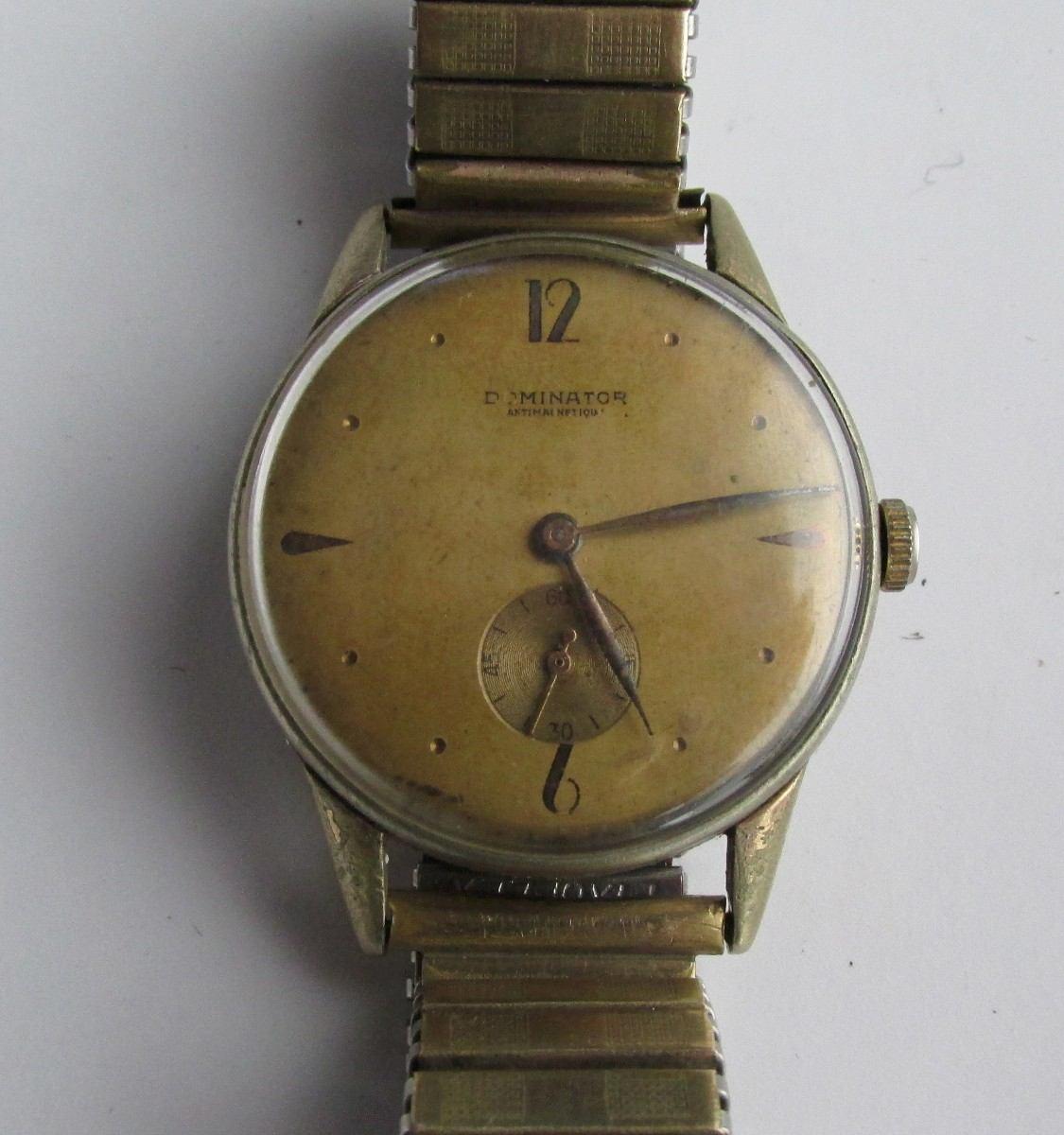 6d17ff215bf6 antiguo reloj de pulsera dominator enchapado en oro. Cargando zoom.