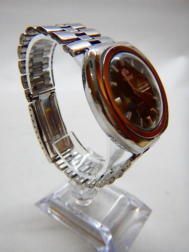 antiguo reloj de pulso automático orient japonés funcionando