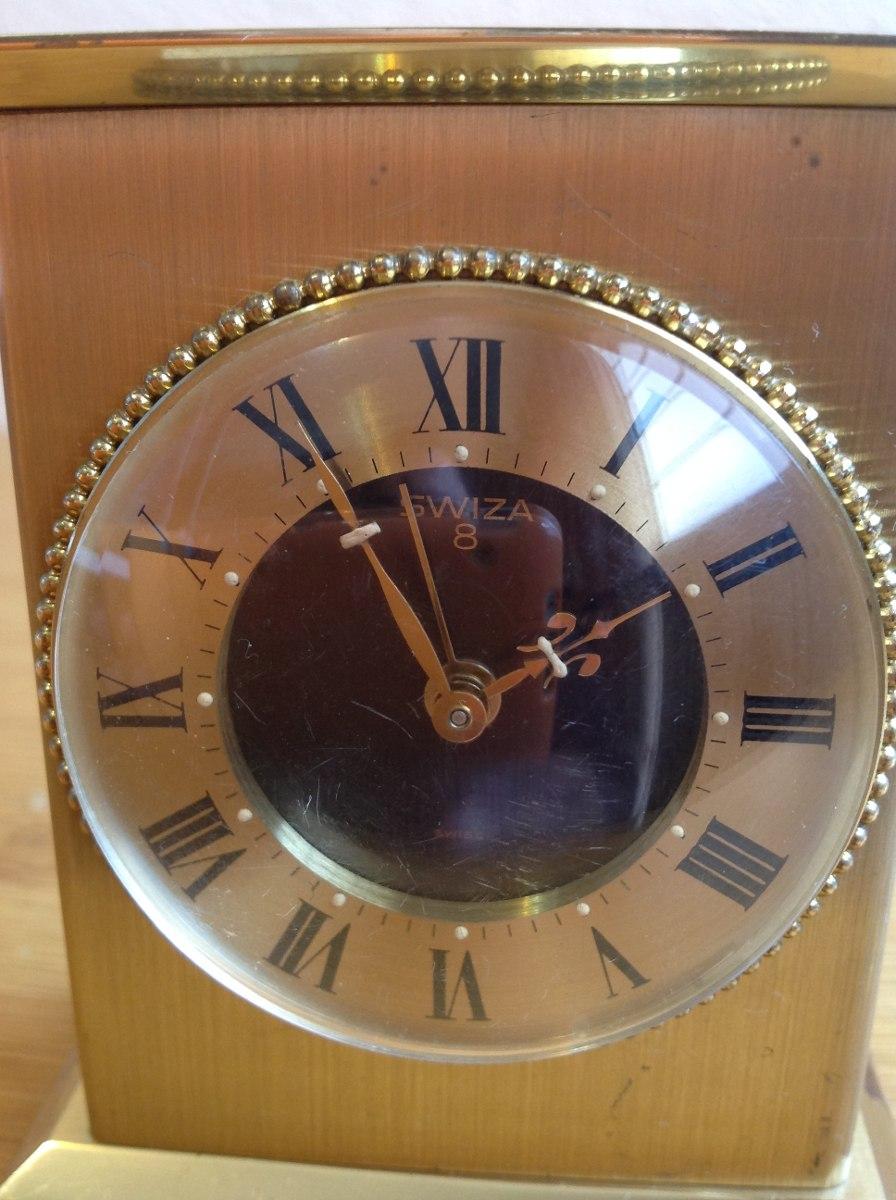 37a91193d44e Antiguo Reloj De Viaje Swiza 8