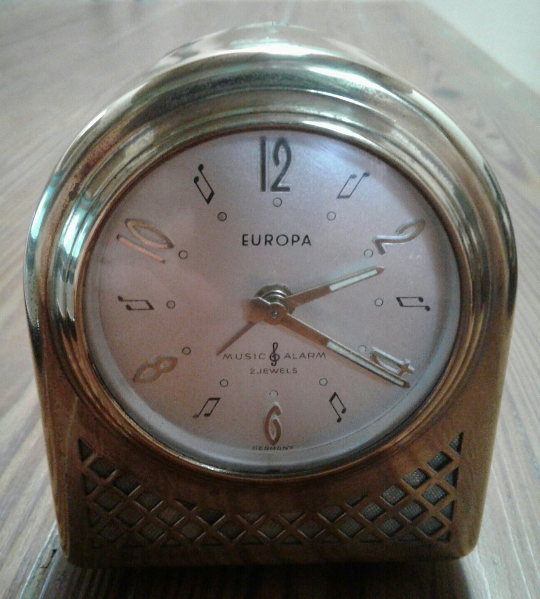8023a64b491a antiguo reloj despertador europa cuerda bronce alemán. Cargando zoom.