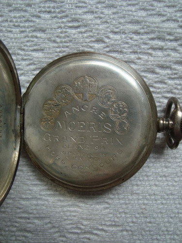 antiguo reloj plata moeris-bolsillo grand prix berna 1914