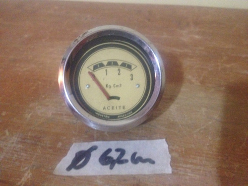 antiguo reloj presión de aceite