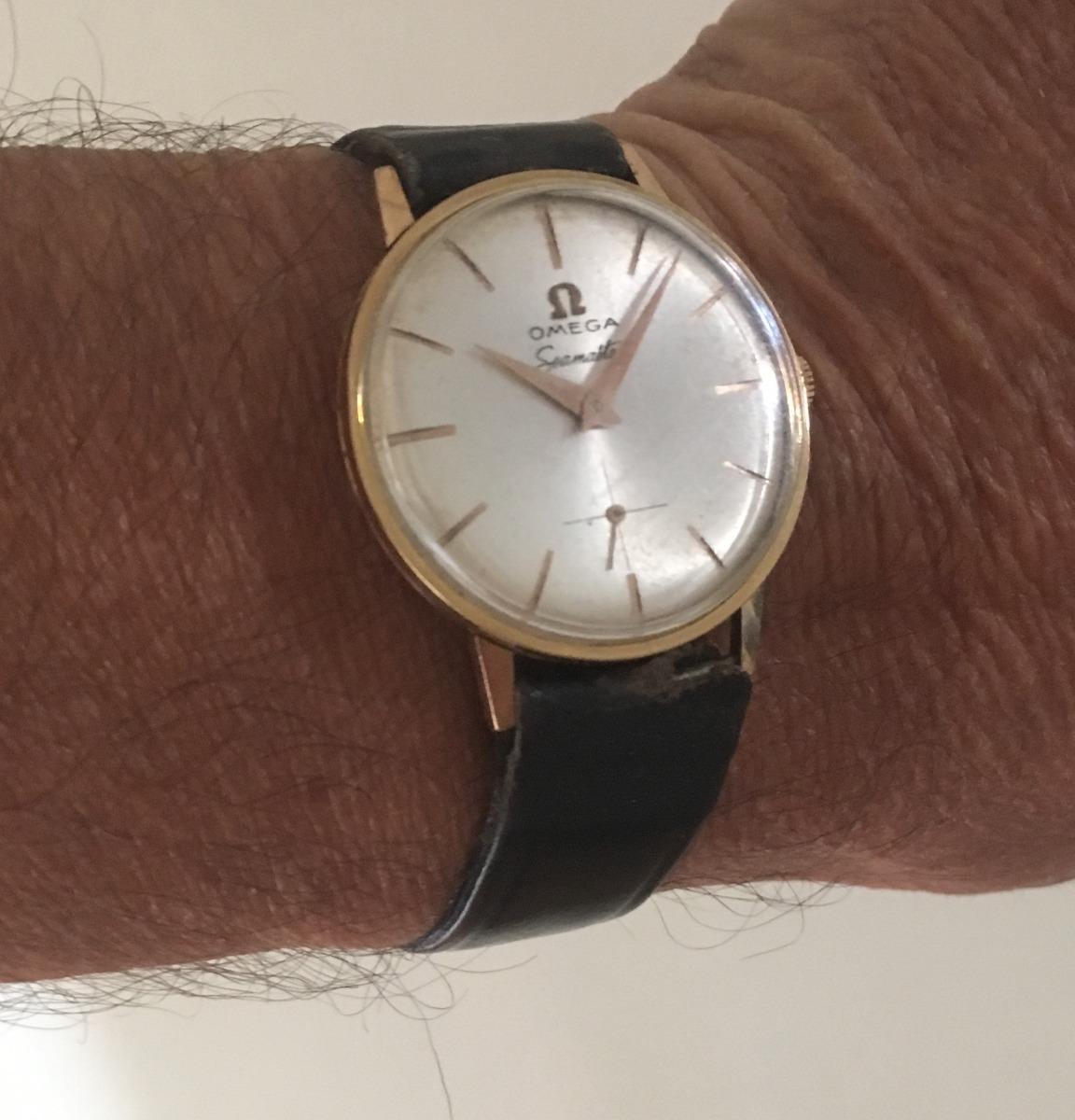 9cf1a42aaed7 antiguo reloj pulsera omega seamaster enchapado oro vintage. Cargando zoom.