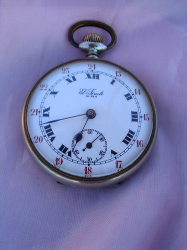 antiguo reloj suizo el jinete