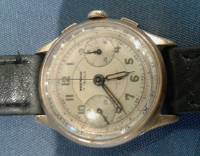 Antiguo Made Crono Swiss Oro Dorado Reloj Wakmann Cronografo xrCoBed