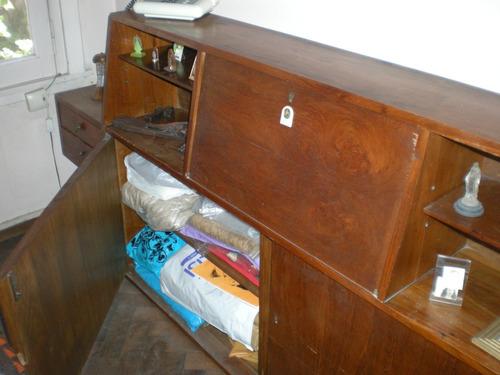 antiguo respaldo - cabezal con mesas de luz incorporadas