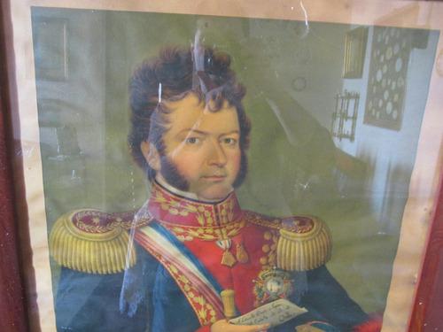 antiguo retrato libertador gral bernardo o higgins