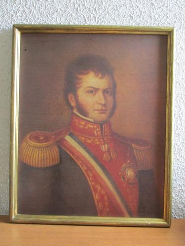 antiguo retrato libertador gral bernardo o higgins escaso