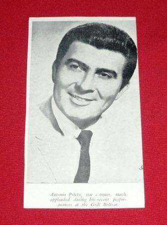 antiguo retrato tarjeta antonio prieto grill hotel bolívar