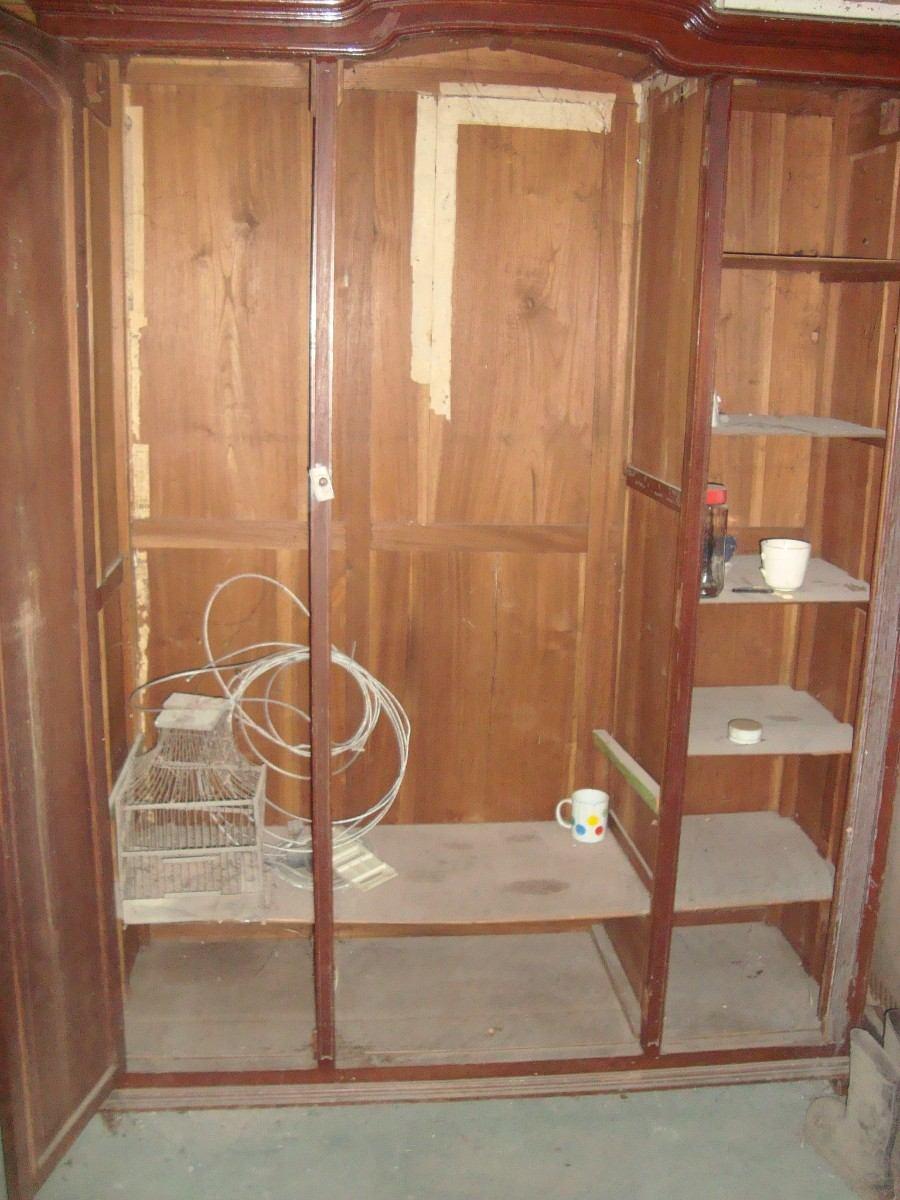 Antiguo ropero para transformar restaurar a bibliotec - Transformar un mueble ...