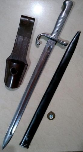 antiguo sable bayoneta militar mauser modelo 1891. original.