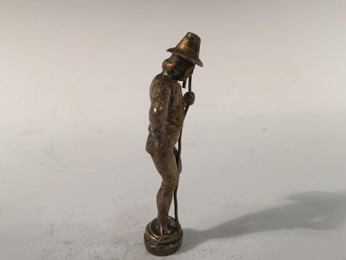 antiguo sello para lacre de bronce representa pastor