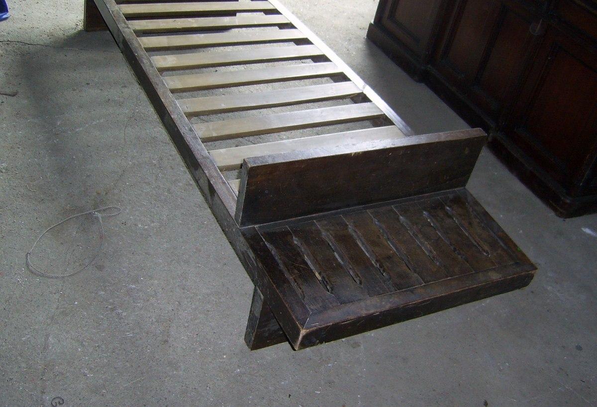 Antiguo sillon cama de cedro travesa o torsido for Sillon cama mercado libre