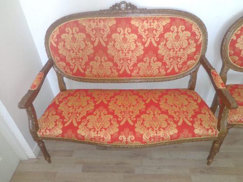 antiguo sillon estilo medallon