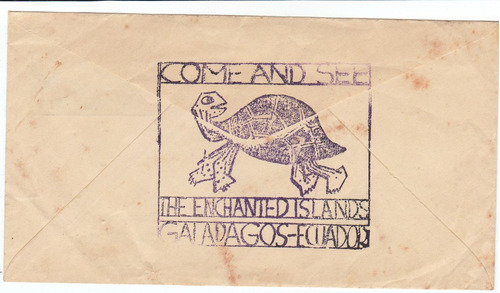 antiguo sobre de primer día post-office  galápagos