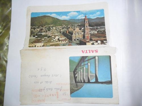antiguo sobre envio postal timbrado salta foto paisaje