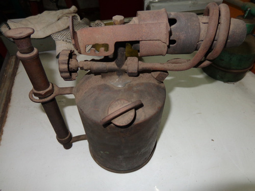 antiguo soldador soplete bronce primus