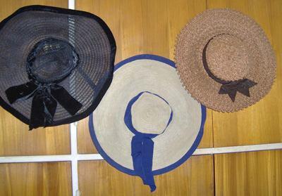 Antiguo Sombrero Capelina A Mano Años 40 Excelente ! -   350 32e79e3cfce