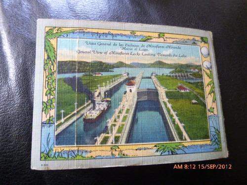antiguo souvenir del canal de panama 1937 (74f2